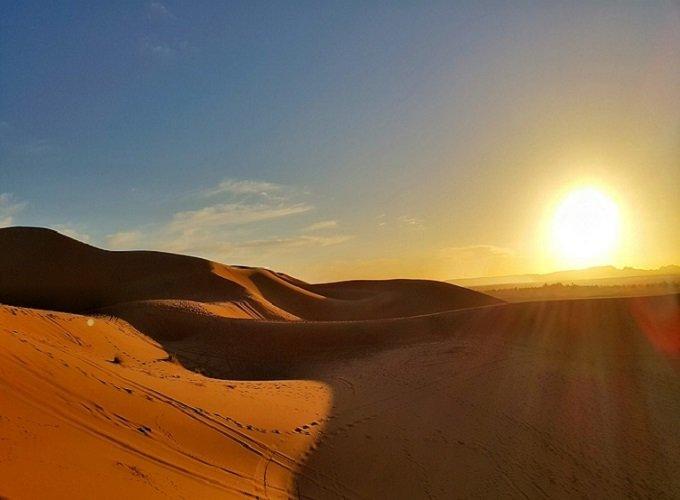 Morocco Desert Sunset Stunning Sahara Sand Dune