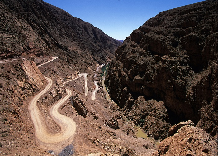 motorcycle_morocco-Dades_gorge